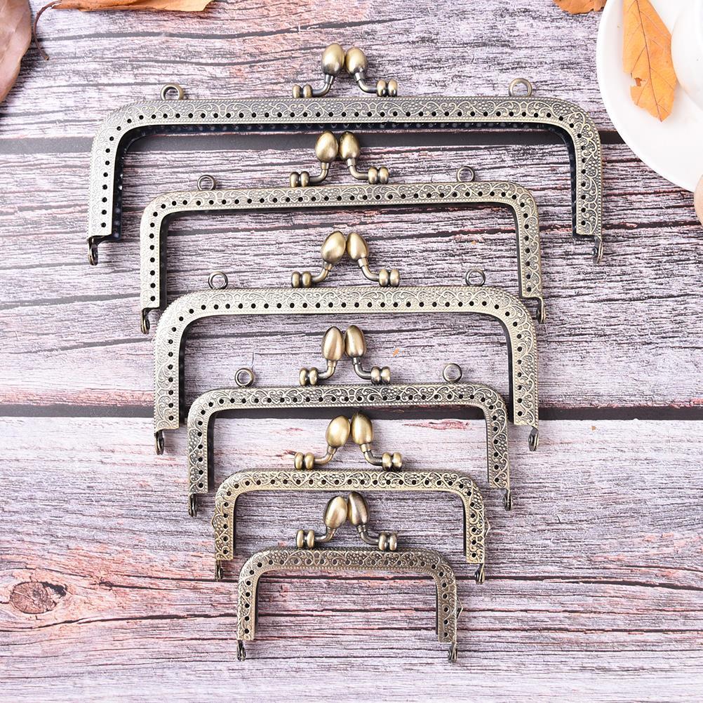 1PCS New Fashion Handle 8.5/10.5/12.5/15/16/18/20cm Bronze DIY Purse Handbag Handle Coins Bags Metal Kiss Clasp Lock Frame