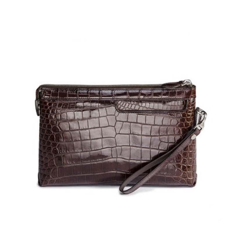 afanzhe new crocodile leather bag for men business men envelope bag large capacity high-grade leather bag large men clutch bag