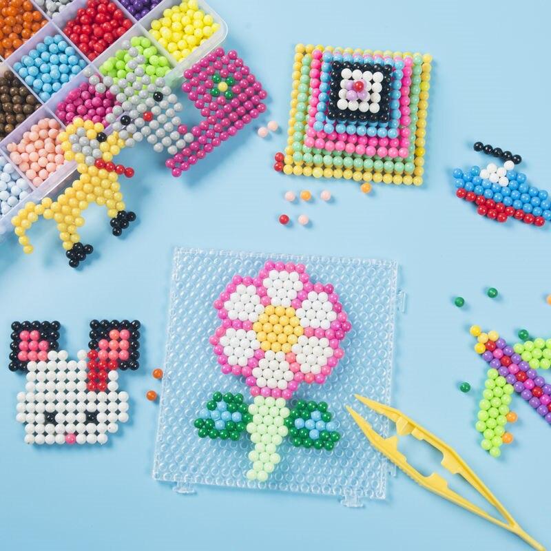 6000pcs DIY Water Spray Magic Beads Manual 3D Beads 5mm Hama Beads Child Gift Beads Refill Wholesale Beads Toys Diy Water Kralen