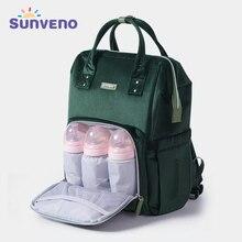 Sunveno Baby Diaper Bag Backpack Mommy Travel Bag Stroller Organizer - Insulation Pockets,Back Safety Pocket,Stroller D-ring