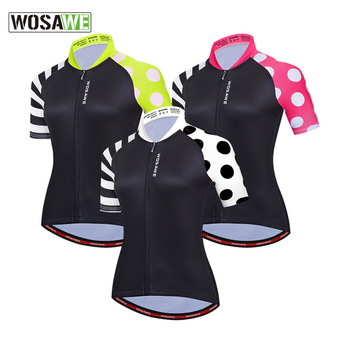 WOSAWE Women's Motorcycle Cycling Jersey Short Sleeve Bicycle Clothing Road Biker Top Shirts MTB Downhill Sport Jersey Quick Dry недорого
