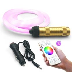 Luzes de fibra óptica inteligente controle app rgbw efeito céu estrelado luz teto cabo fibra óptica disponível decoração do carro