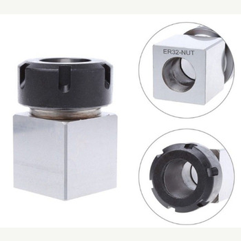 Hex+Square ER25//ER32//ER40 Collet Block Spring Chuck Holder Engraving Machine C#
