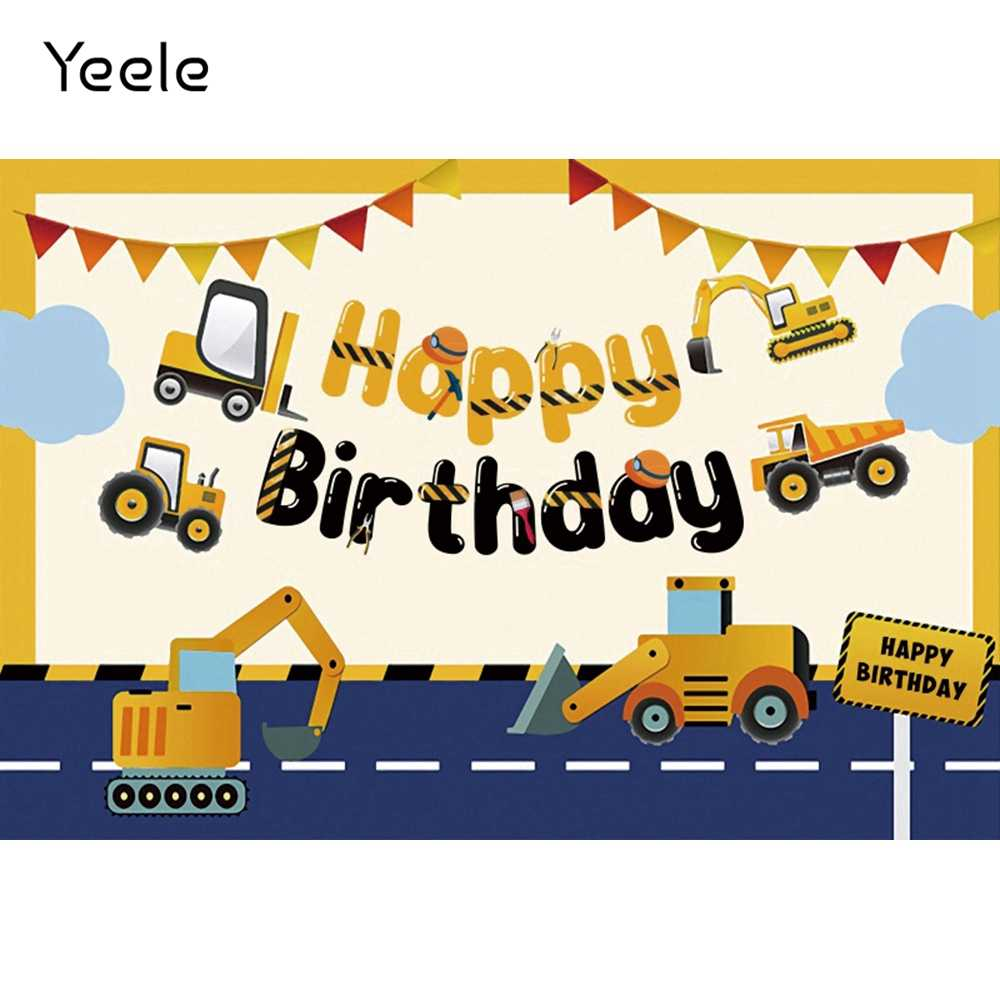 YEELE Vehicle Backdrop 10x8ft Kids Birthday Party Photography Background Airplane Ship and Cars First 1st Birthday Cake Table Baby Shower Banner Son Daughter Artistic Portrait Photo Booth Props