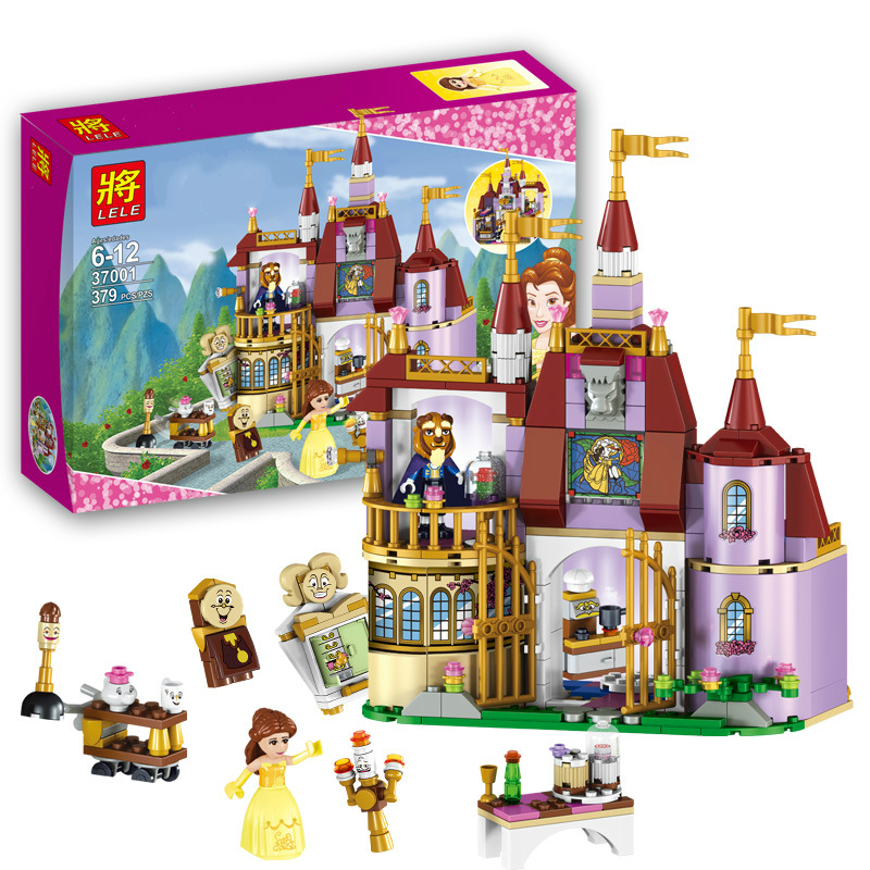 New Compatible With Legoing Friends 37001 Beauty And The Beast Princess Belle's Enchanted Castle Model Building Blocks Girl Toys