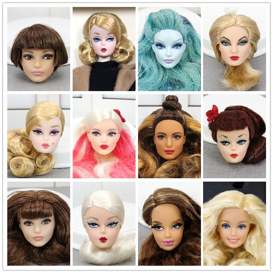 1 Pcs Original Limited Doll Head Dolls Accessories Fashion Style Hair American Fashion Doll Gift DIY Toys For Children Boneca