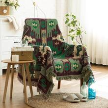 Sofa Universal Cover Tassels Blanket Decorative Slipcover Throws On Sofa/Bed/Plane Cotton Soft Travel Plaids