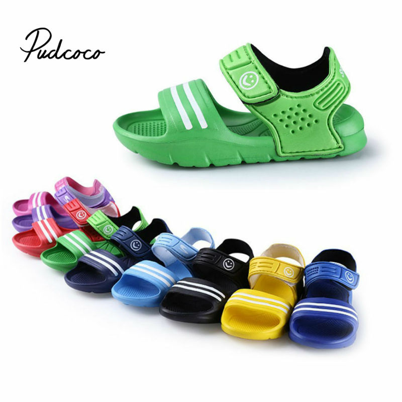 PVC Newest Summer Kids Shoes 2020 Fashion Sweet Children Sandals For Boys Girls Toddler Baby Breathable Hollow Out Shoes 16-20cm