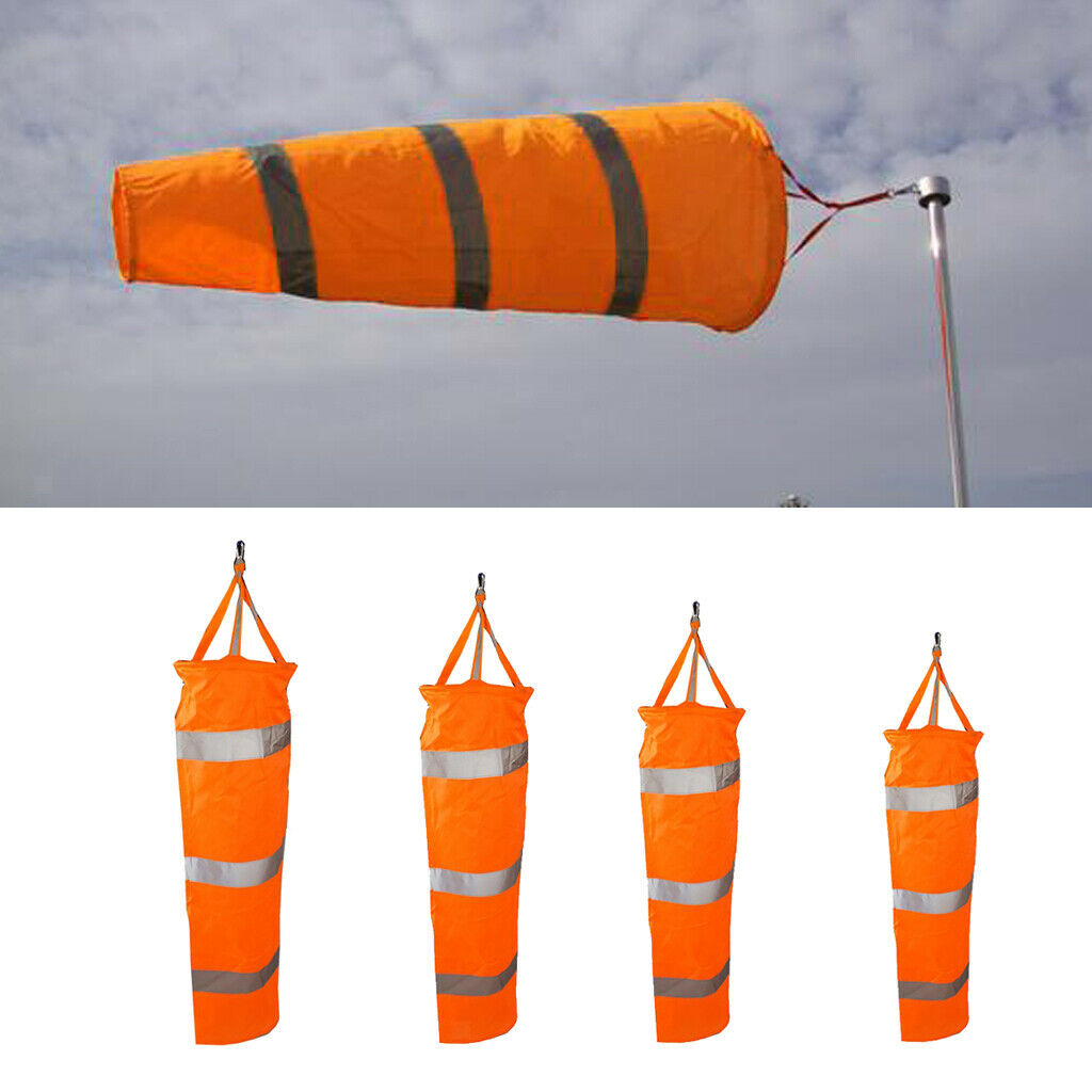Airport Windsock Rip-Stop Outdoor Rainbow Wind with Reflective Belt