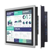 Panel Industrial de 12 y 10 y 15 pulgadas todo en uno para PC, miniordenador con núcleo táctil capacitivo, i3, i5, i7, CON RS232 com, Windows 10 Pro, WiFi
