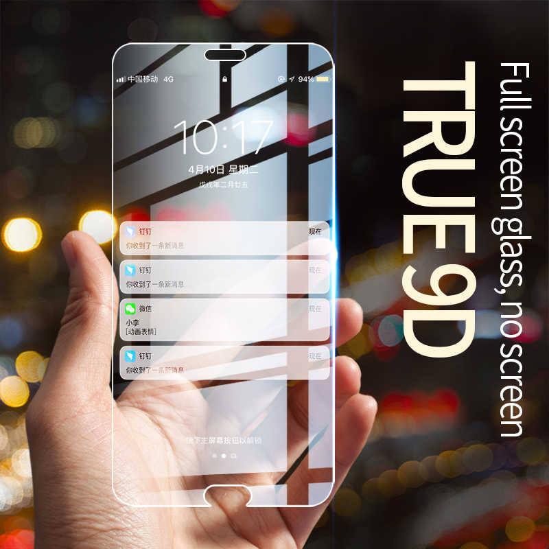 True Tempered Glass for huawei honor8 9 10 honor20 honor20lite 9H 2.5D screen protector for huawei honor V10 V20 Honor7X 8X Film