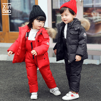 XINBAO Kids cold Winter Jackets overalls boys girls Children Snowsuit Baby Clothes Parka Coat Outerwear Toddler Down toddler