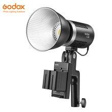 Godox – lumière LED ML60 60 60W, Mode silencieux, Support de réglage de la luminosité, Li-ion, avec alimentation ca, éclairage d'extérieur