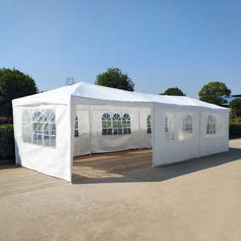 Presale 15% off Large size 3M x 9M Waterproof Outdoor PE Garden Gazebo Canopy Party Wedding Tent Marquee 8 Panels Full Closed - DISCOUNT ITEM  0% OFF All Category