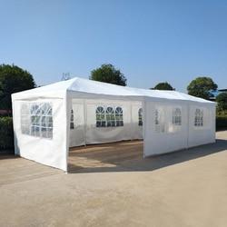 Preventa 15% de descuento gran tamaño 3M x 9M impermeable al aire libre PE jardín Gazebo dosel fiesta carpa de la boda marquesina 8 paneles completamente cerrado
