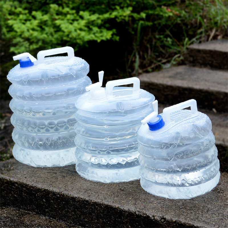 Портативный 5/10л открытый складной складной питьевой воды сумка перевозчик автомобильный контейнер открытый кемпинг пешие прогулки пикник Аварийный комплект
