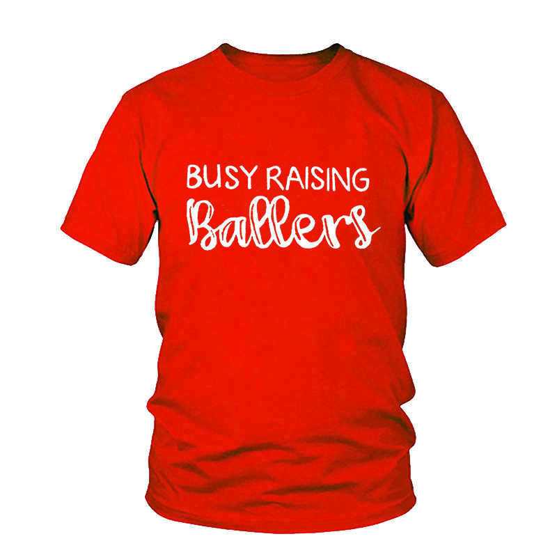 캐주얼 여성 어머니의 날 선물 티 그레이 여성 티셔츠 반팔 바쁜 올리는 볼러 야구 엄마 프린트 T 셔츠 귀여운