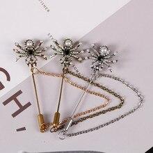 ¡Oferta! Broche de fiesta de Halloween gótico Retro clásico Animal Pin araña con incrustaciones de diamantes de imitación accesorios de moda Punk regalo de vacaciones