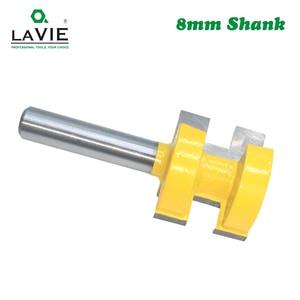 Image 4 - LA VIE 2pcs 8MM Shank T חריץ כיכר שן שגם כרסום קאטר גילוף סכין נתב Bits עבור עץ כלי נגרות MC02140