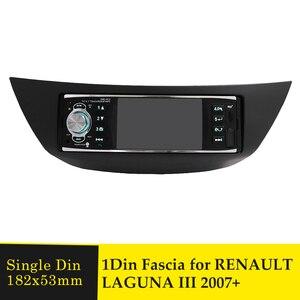 Image 1 - Einzel Din Auto Radio Fascia Stereo Panel für RENAULT LAGUNA III 2007 + Audio Rahmen Dash Mount installation DVD Player trim Lünette