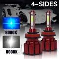 2 шт. 100 Вт 16000LM H11 H7 светодиодный светильник лампы H4 H11 H8 HB3 9005 9006 HB4 9012 9004 Автомобильный светодиодный головной светильник лампы 6000K 12V лампы для ...