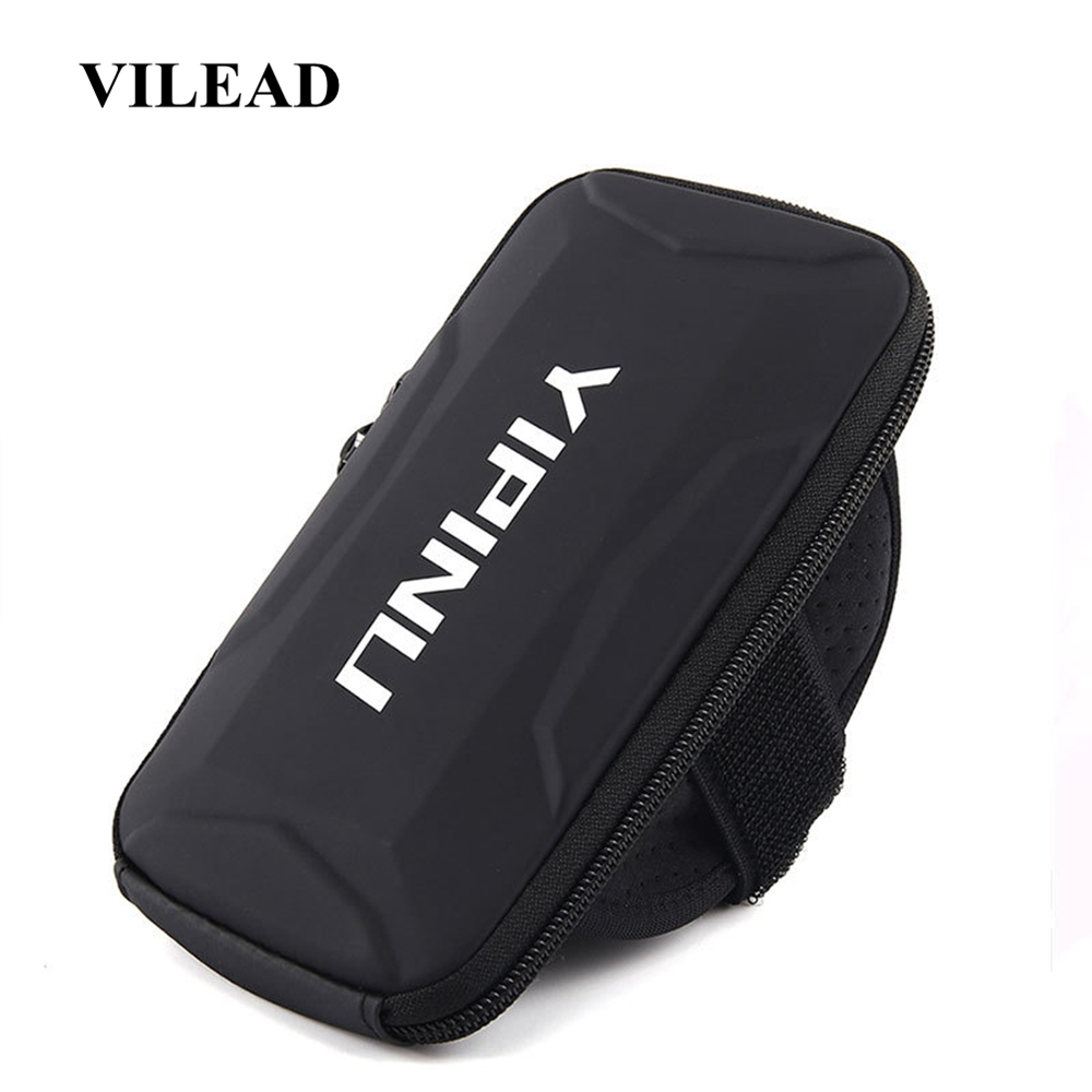 Vilead Waterproof Breathable PU Running Bag Outdoor Cellphone Holder Arm Bag Men Women Fashion Sports Reflective Fitness Bag