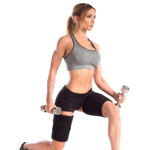 2pcs Fitness Leggings Belt Leg Shaper Sauna Sweat Thigh Trimmers Calories off Slimming Legs Fat Thermo Neoprene Compress Belt 3