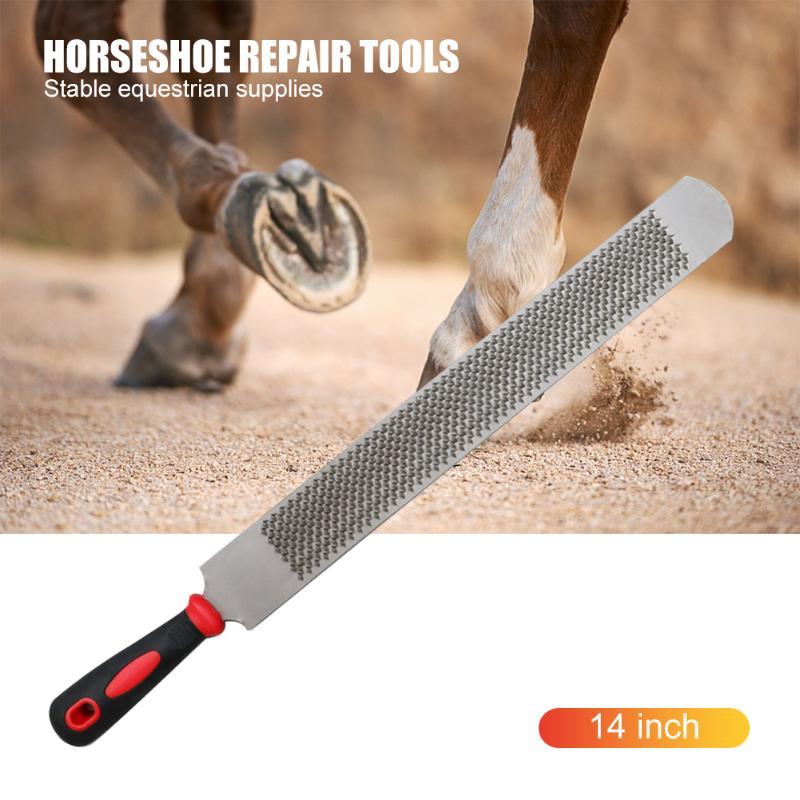 14 дюймов лошадь Рашпиль для обработки копыт обрезки файл железная Подкова файл Farrier подковы Инструменты для ремонта стабильные конные прин...