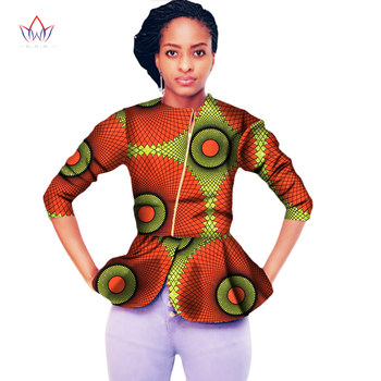 2020 Autumn New African Clothes For Women Plus Size Traditional African Clothing O-neck Dashiki African Tops For Women WY2005