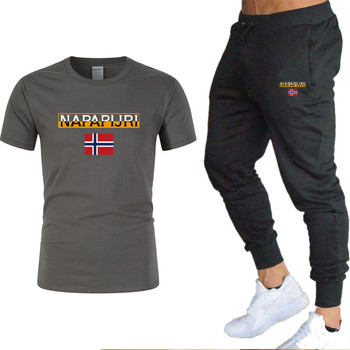 Men's sets t shirts + pants two pieces sets casual  2