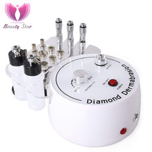Beauty Star Diamond Microdermabrasion เครื่อง Big ดูดสูญญากาศสเปรย์ Therapy Dermabrasion Facial Peeling Exfoliate Skin Care(China)