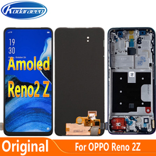 Amoled Screen For Oppo Reno2 Z LCD Display Screen Frame Touch Digitizer For Reno 2Z PCKM70 PCKT00 PCKM00 CPH1945 CPH1951 PCKM80