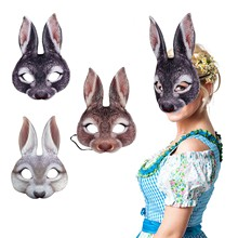 Costume Rabbit-Mask Prom-Dress Cosplay Funny Party Creative Easter Animal D6 Adult