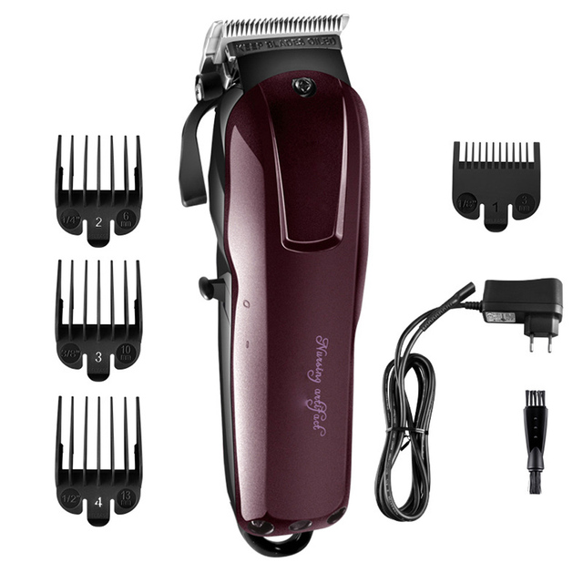 Electric Hair Trimmer Beard Powerful Cordless Professional hair Clipper Shaver Hair Cutting Machine 3/6/10/13mm Limit Comb