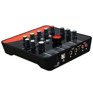 1 conjunto upod pro profissional placa de som externo microfone 48v usb 2.0 interface de gravação para o telefone móvel pc karaoke ao vivo