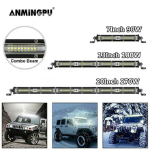"ANMINGPU Slim 7 ""9"" 20 ""pollici LED Bar 12V 24V Off Road LED Light Bar per auto camion trattore 4x4 Atv Spotlight Flood LED Work Light"