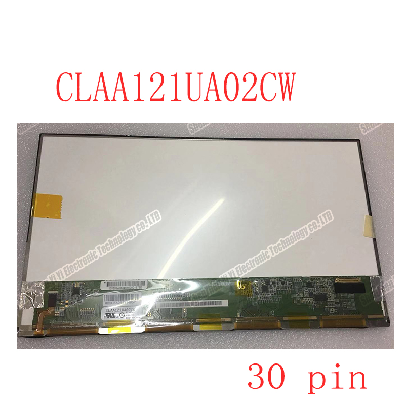 12.1 Inch Laptop Lcd Screen LED Matrix  CLAA121UA02CW  30 Pin 1600*900
