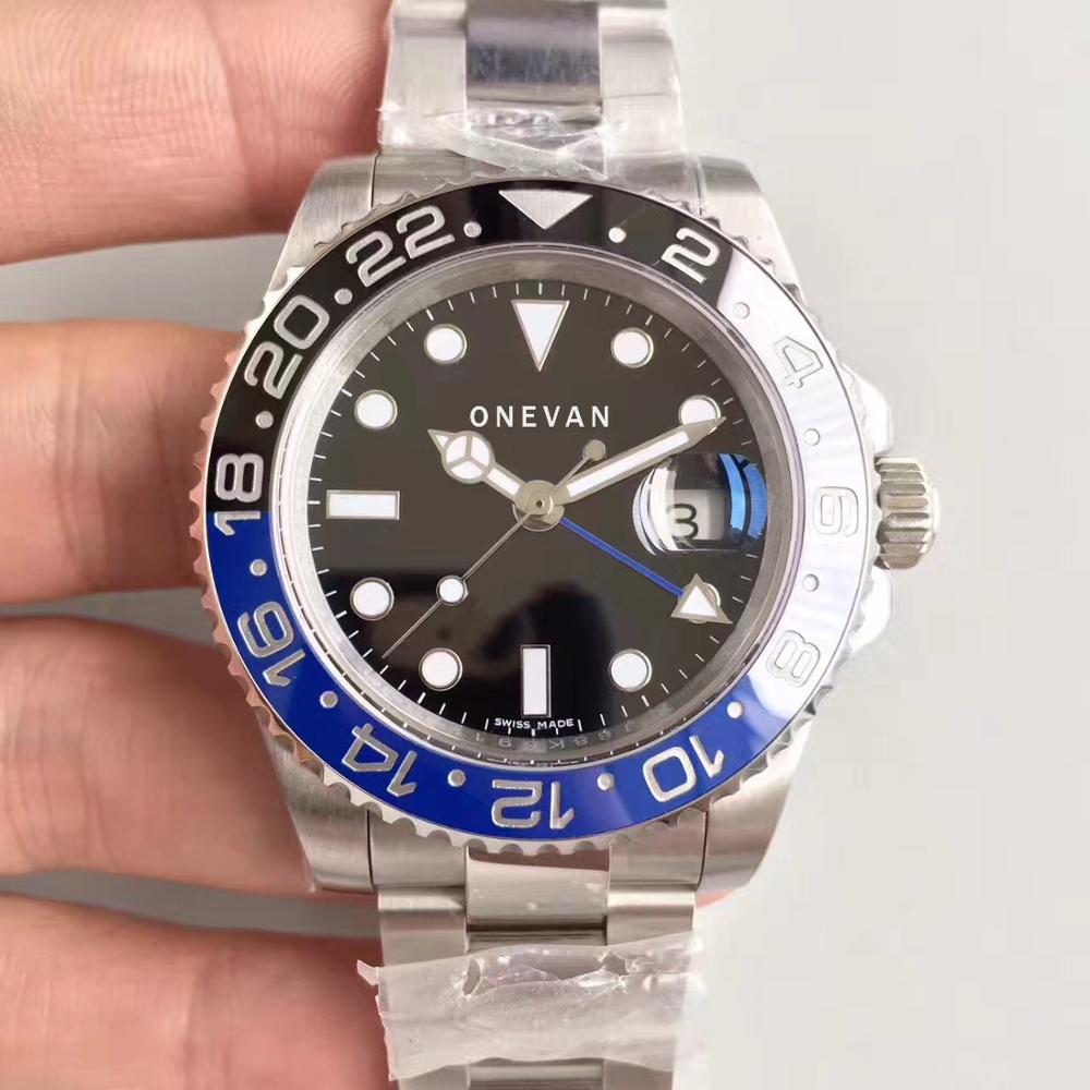 Wristwatch Gmt-Master-Ii-Ceramic-Bezel Batman AAA Sapphire 116710 Black Automatic Greenwich