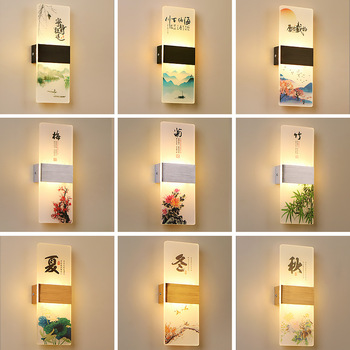 Led Wall Lamp Aluminum Acrylic Modern Dimming Bedroom Bedside Living Room Background Wall Corridor Aisle Stairs Hotel Light modern bedside wall lamp simple creative solid wood led energy saving bedroom living room aisle corridor hotel light iy121770
