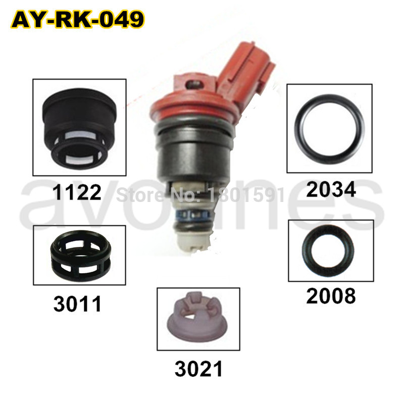 40 pezzi / set kit di riparazione iniettore carburante ricambi auto per 16600-96E01 A46-00 FJ285 per NISSAN (AY-RK049)