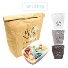 Lunch Bag Box Reusable Box Insulated Durable Plastic-Free Handle Bag Portable Lunch Bag Organizer For Women Men(China)