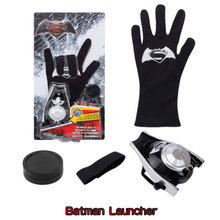 Super Heroes Batman Glove Action Figure Spiderman Launcher Toy Children Awesome Spider Man Cosplay Gift Christmas Costume Props 4pcs lot super climber stikbot action figure toy cartoon spider man stik bot funny play collection jouet children birthday gift