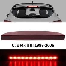 Автомобильный задний светильник с высоким креплением 12 Светодиодный 3-й задний третий тормозной светильник стоп-лампа для Renault Clio Mk II III ...