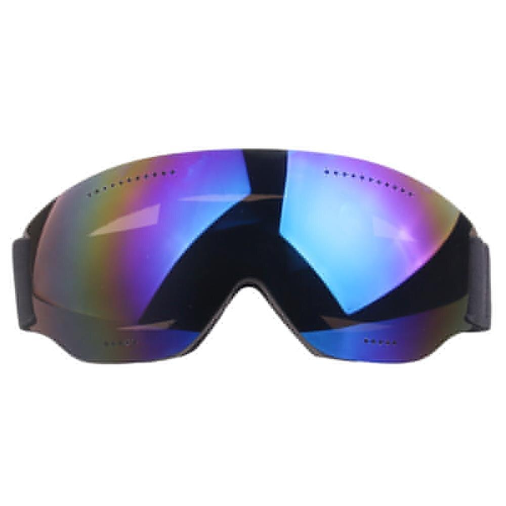 Ski Glasses Single Layer Large Spherical Cola Myopia Skiing Anti-fog UV400 Snow Mirror Goggles Windproof Mirror Adult Ski Mirror