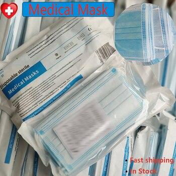 100/20 pcs Medical Mask Mouth Face Mask Anti Virus Dust disposable Mask Protective flu bacteria Filter masks Medical Surgical