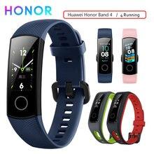 Honor Band 4 สายรัดข้อมือสมาร์ทสร้อยข้อมือฟิตเนส Tracker กันน้ำ Real time กิจกรรม Tracker อุปกรณ์สวมใส่ Sleep Snap