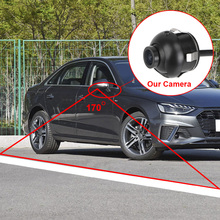 Obiettivo Fisheye NTSC telecamera di Backup retromarcia grandangolare a 170 gradi visione notturna auto vista posteriore telecamera frontale CCD impermeabile
