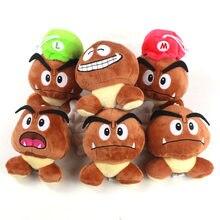 Peluche Super Mary aux champignons, 5 jouets en peluche, inspiré des personnages de Mario et des frères