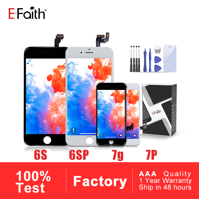Lcd-Screen Display 7p-Assembly-Replacement iPhone 6s Plus for 6SP 7G Efaith-A--Quality