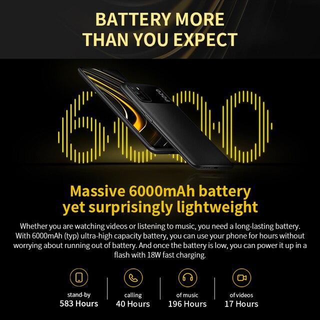 "Global Version POCO M3 Smartphone Snapdragon 662 Octa Core 4GB 64GB/128GB 6.53""display 6000mAh battery 48MP Triple Camera 3"